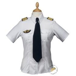 Chemise pilote femme - Manches courtes