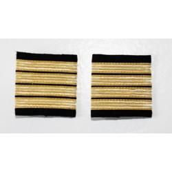 Galons Commandant de Bord - 4 galons or simples