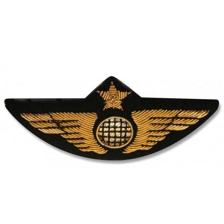 Insigne de poitrine aile avion Or - Pour pilotes et copilotes, personnels navigants