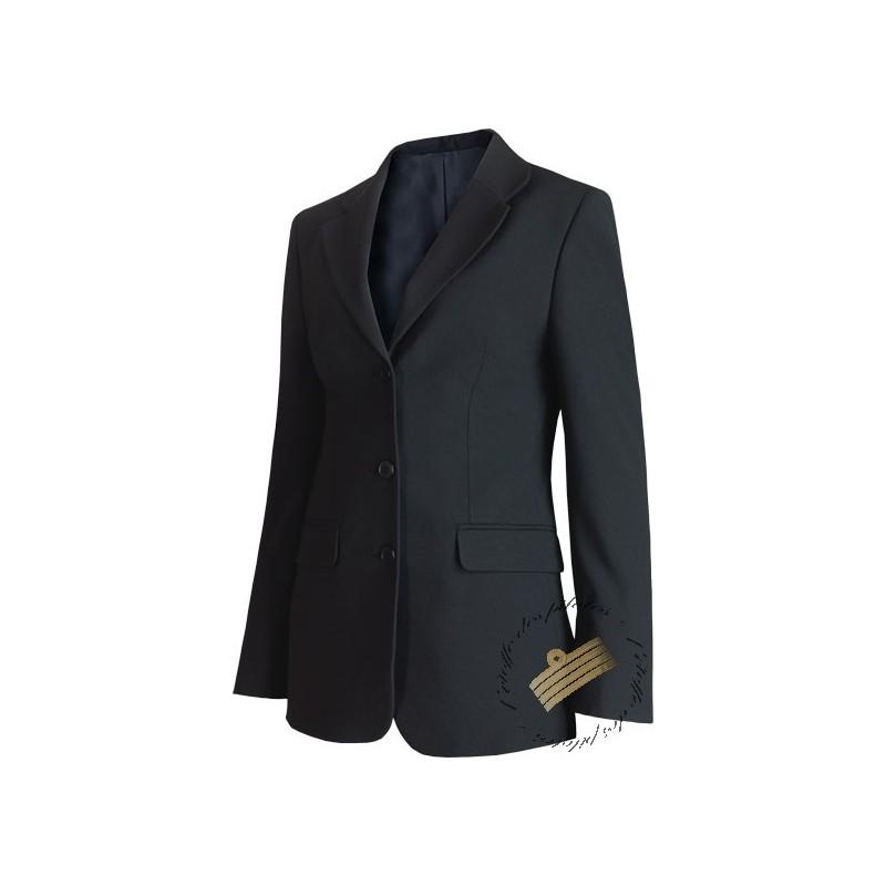 veste femme bleu marine esprit tailleur pour pilotes et h tesses. Black Bedroom Furniture Sets. Home Design Ideas