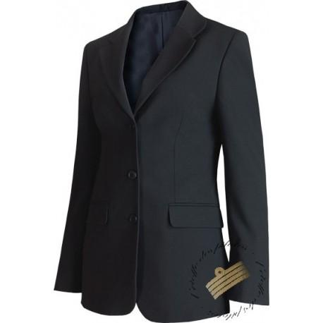 veste femme noire esprit tailleur pour pilotes et h tesses. Black Bedroom Furniture Sets. Home Design Ideas