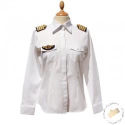Chemise pilote femme - Manches longues