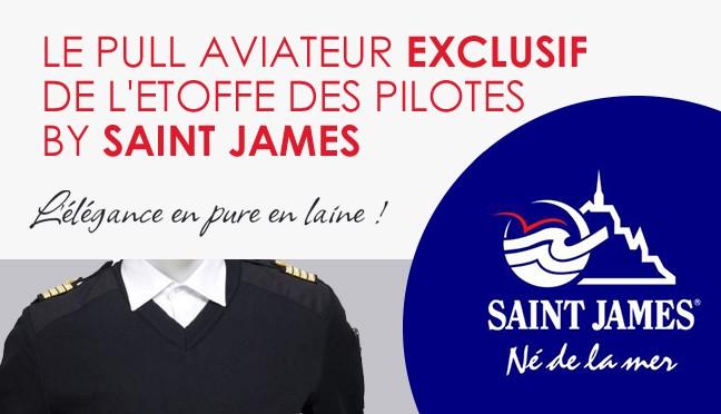 Pull Saint James pour aviateur