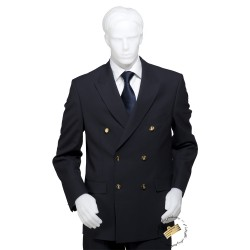 Veste de costume bleu marine coupe croisée