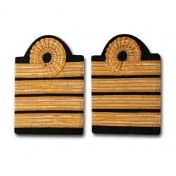Galons Commandant de bord - 4 galons - Or - Boucle Nelson