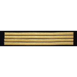 Tours de manches commandant de bord 4 galons Or 10 mm - simples (sans boucle Nelson)