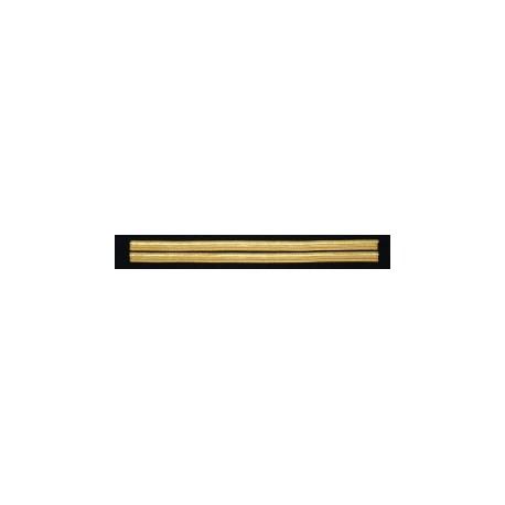 Tours de manches 2 galons Or 10 mm - simples (sans boucle Nelson)