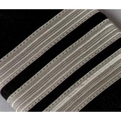 Galon Argent à coudre 10 mm - Ruban vendu au mètre