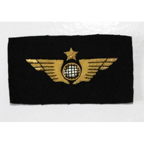 Insigne de poitrine aile avion Or à coudre sur les vêtements d'uniforme