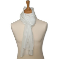 Foulard pilote pure soie - blanc