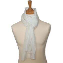 Foulard pilote pure soie - blanc - Etole 180 x 110 cm