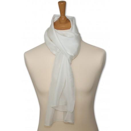 Foulard pilote pure soie - blanc