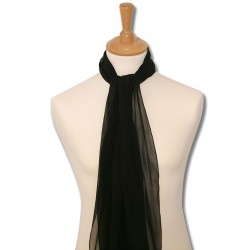 Foulard pilote pure soie - noir