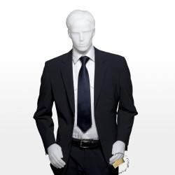 Veste de costume noire coupe droite