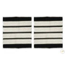 Galons Commandant de Bord - 4 galons Argent simples