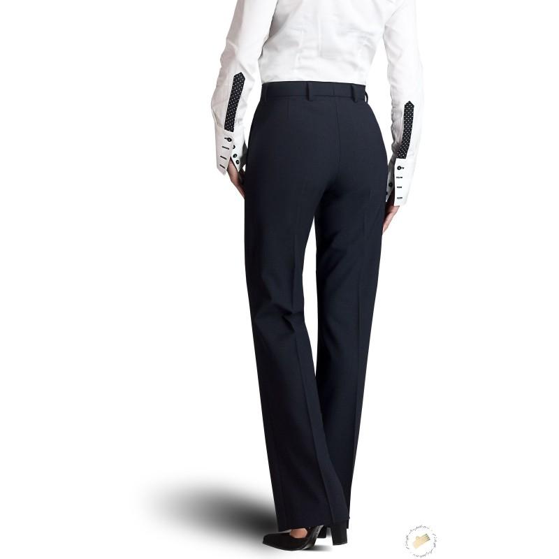 ae64ede22da87 Pantalon femme bleu marine, coupe classique, pour pilotes ou hôtesses