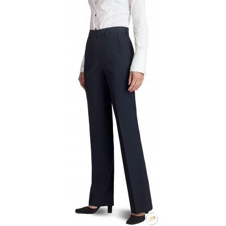 Pantalon femme coupe classique - Bleu marine.