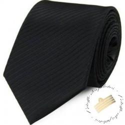 Cravate 100% soie - Noir uni