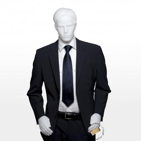 Costume gris anthracite, Veste droite + Pantalon, sans galons