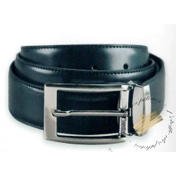 Ceinture en cuir ajustable et réversible Noir - Marron