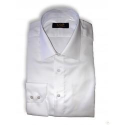 Chemise Ville Classique blanche opaque manches longues, cintrée