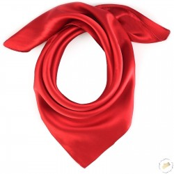 Foulard carré pilote pure soie - rouge