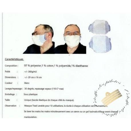 Masques de protection UNS 1