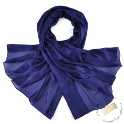 Foulard pilote pure soie - bleu marine - Etole 180 x 110 cm